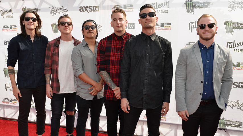 Joshua Moore, Lou Cotton, Eric Choi, Kyle Pavone, Andy Glass und Dave Stephens von We Came As Romans