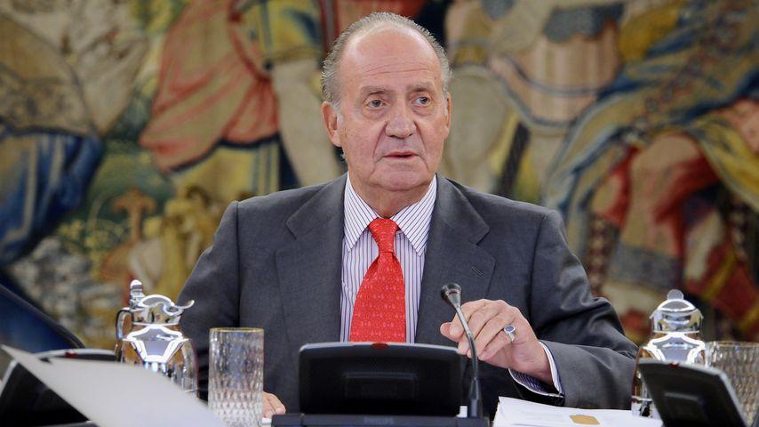 Juan Carlos I. bei einer Audienz in Madrid im Mai 2015