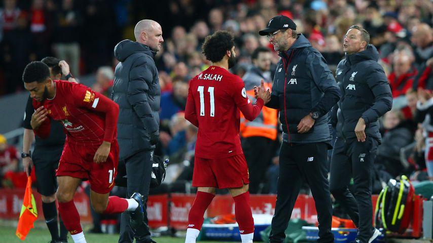Jürgen Klopp und Mohamed Salah