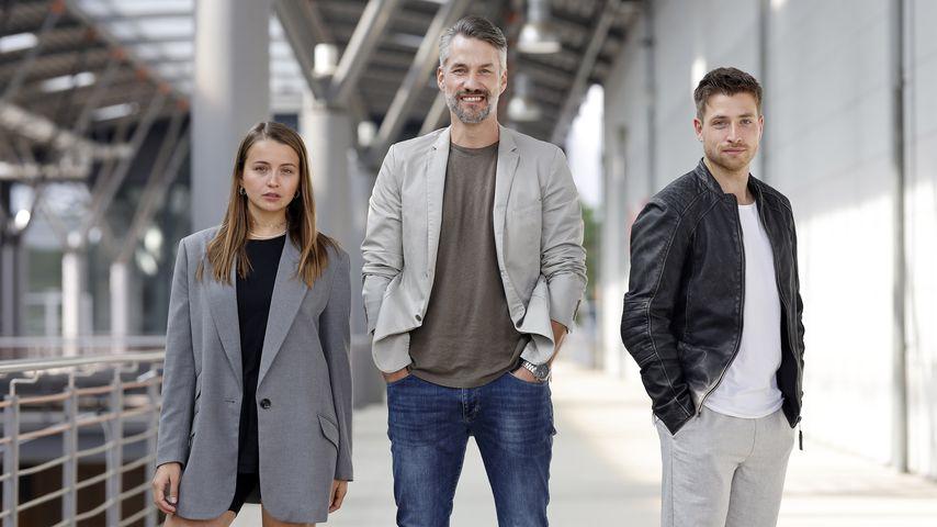 """Julia Wiedemann, Stefan Bockelmann und Dominik Flade, """"Alles was zählt""""-Stars"""
