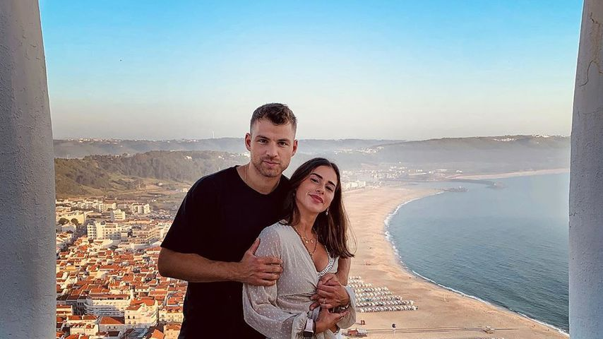 Julian Büscher und Sarah Lombardi im Juli 2020 in Portugal