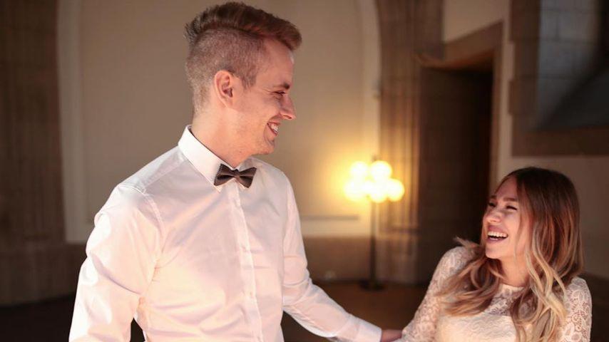 Julian und Bibi Claßen an ihrem Hochzeitstag