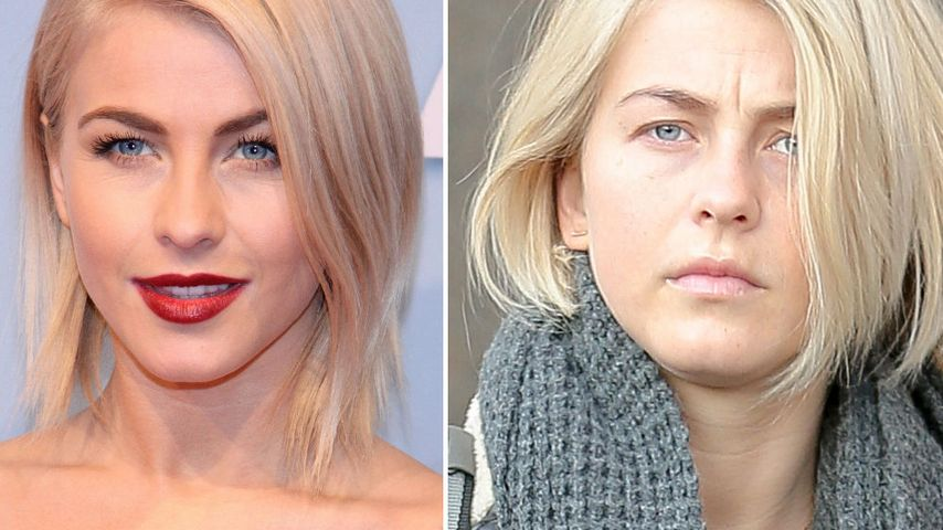 Make-up-frei! Julianne Hough sauer über diese Pics