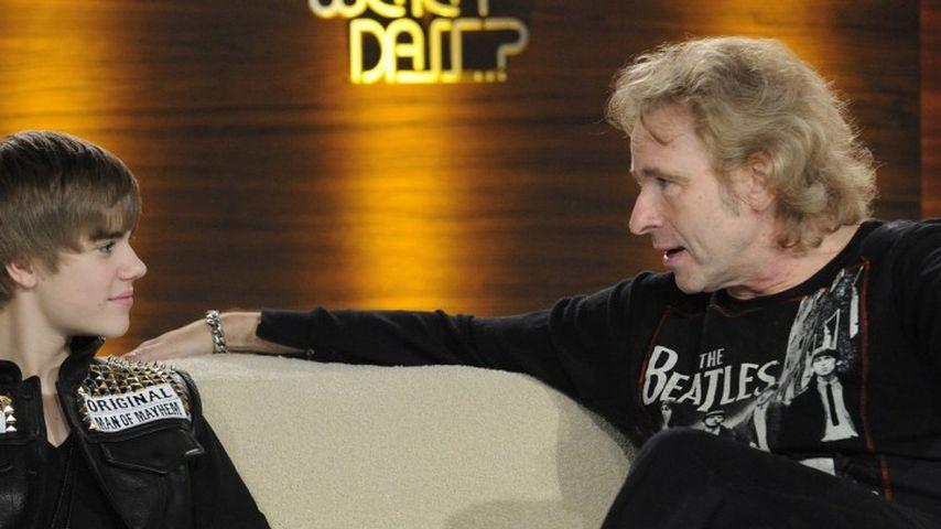 Justin Bieber und Thomas Gottschalk