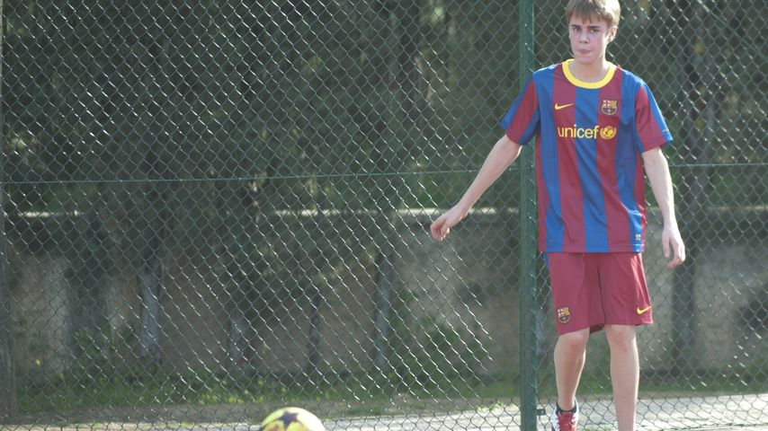 Justin Bieber auf einem Sportplatz in Madrid 2011