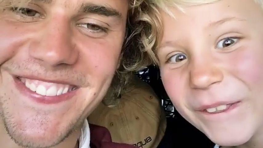 Justin Bieber und sein Bruder Jaxon 2018