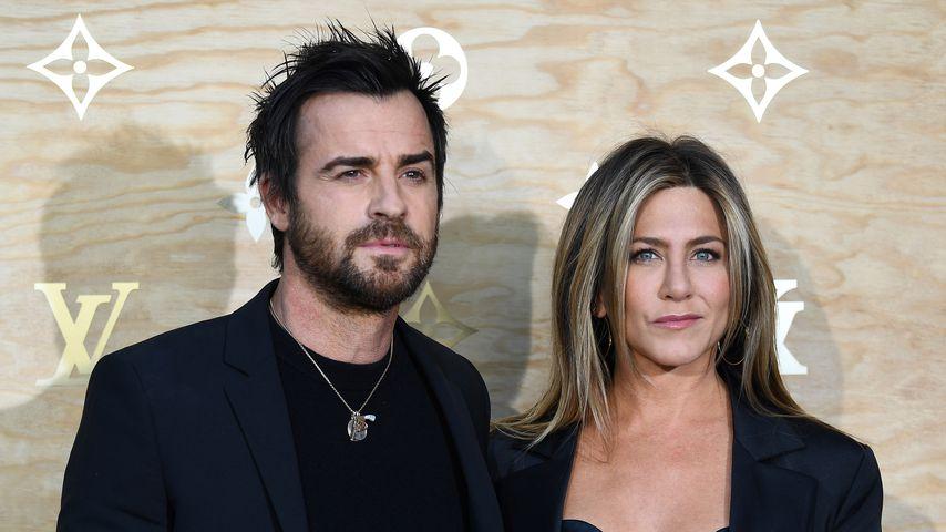 Justin Theroux und Jennifer Aniston bei der Louis-Vuitton-Ausstellung 2017