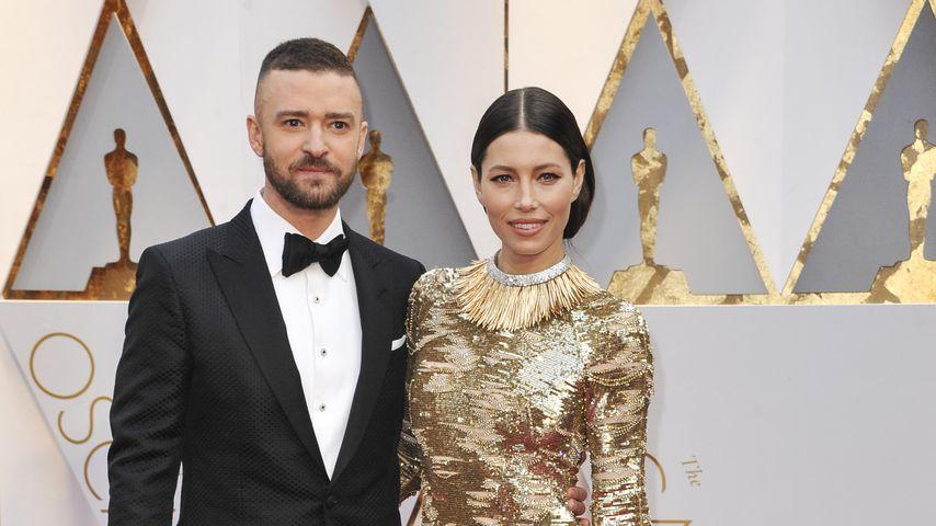Justin Timberlake und Jessica Biel bei den 89. Academy Awards in L.A. 2017