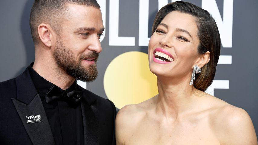 Justin Timberlake und Jessica Biel bei den 75. Golden Globes