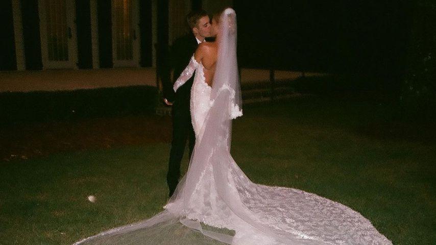 Justin und Hailey Bieber bei ihrer Hochzeit