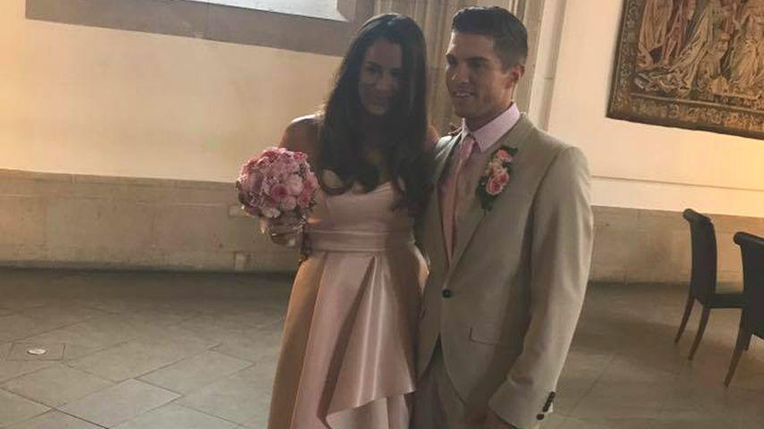 1. Hochzeitsfoto: So sah Joey Heindles schöne Braut aus!
