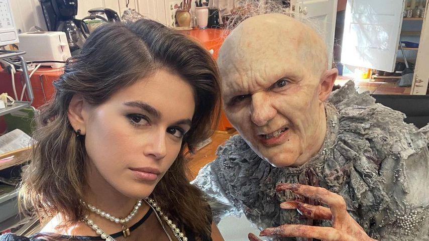 "Kaia Gerber am Set von ""American Horror Stories"""