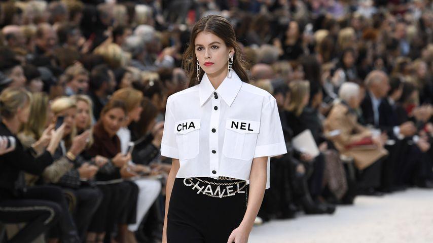 Kaia Gerber bei der Fashionshow von Chanel