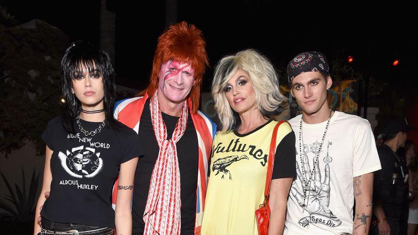 Kaia Gerber, Rande Gerber, Cindy Crawford und Presley Gerber auf der Casamigos Halloween Party