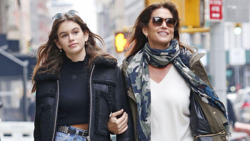 Kaia Gerber und Cindy Crawford in New York City