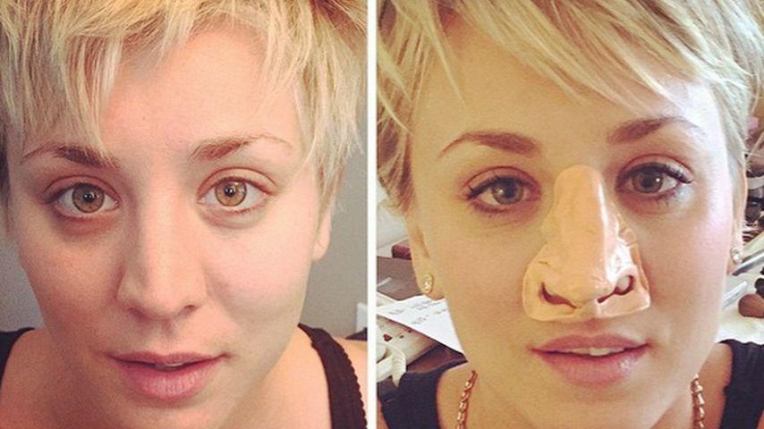 """Also etwa doch? Kaley Cuoco zeigt ihre """"neue Nase"""""""