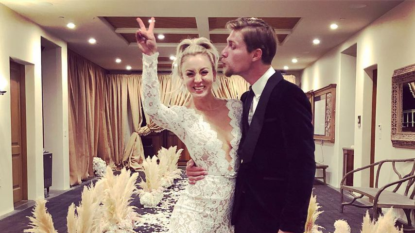 Kaley Cuoco und Karl Cook bei ihrer Hochzeit