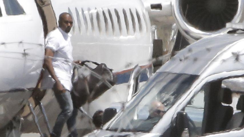 Ganz in Weiß: Kanye West in Florenz eingetroffen