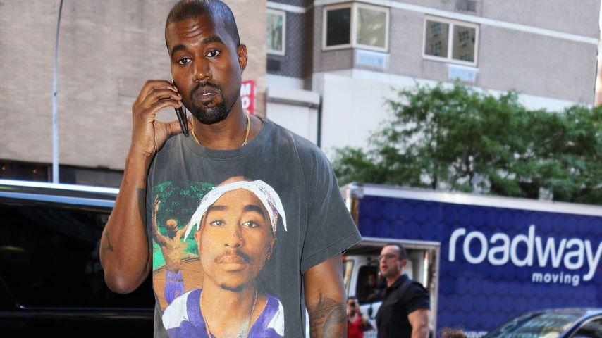 Kanye West mit North auf dem Weg zum Kino in New York