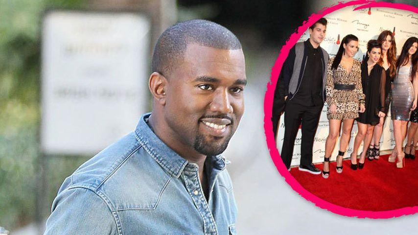 Kanye West: Vom Kardashian-Clan aufgenommen?