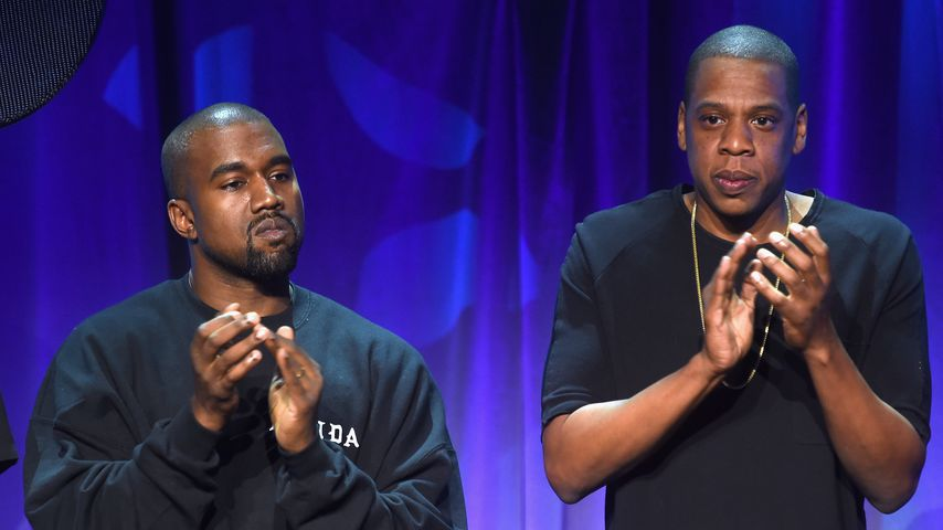 Kanye West und Jay-Z beim Tidal Launch Event 2015