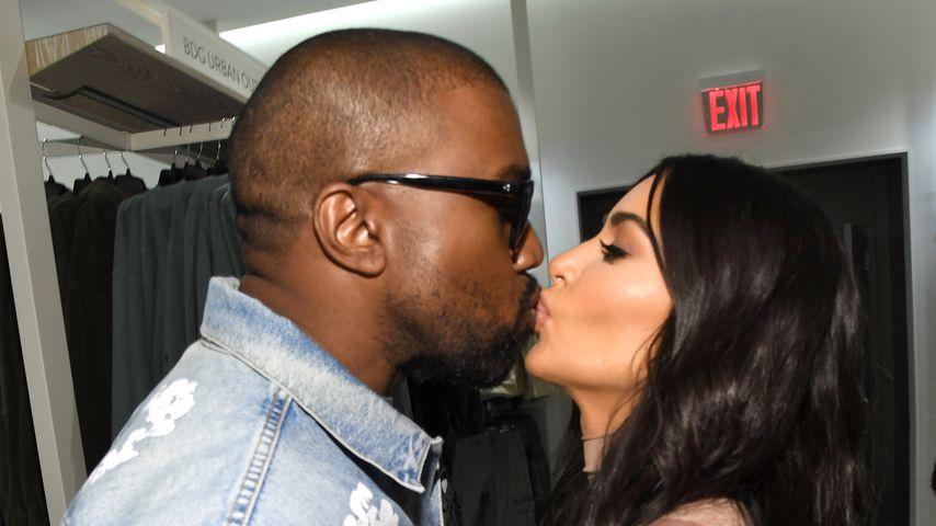 Kanye West und Kim Kardashian bei dem SKIMS-Launch in New York im Februar 2020