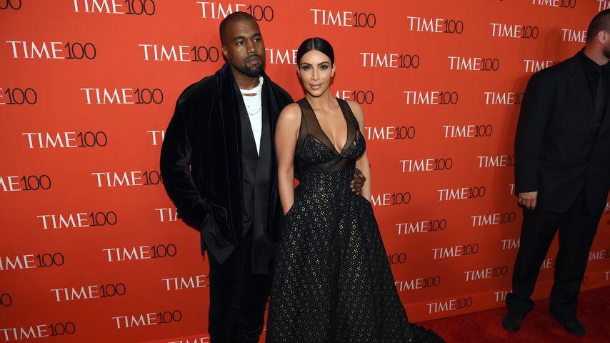 Kanye West und Kim Kardashian im April 2015