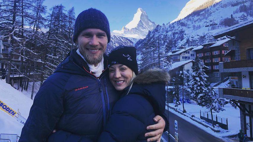 Karl Cook und Kaley Cuoco in den Flitterwochen in der Schweiz