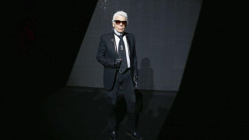 Karl Lagerfeld bei der Dior-Fashionshow in Paris, Januar 2016