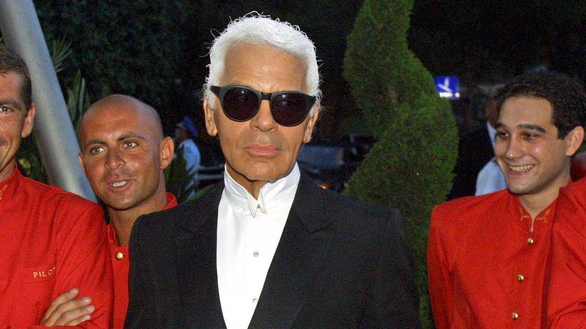 Karl Lagerfeld bei der Red-Cross-Gala 2001