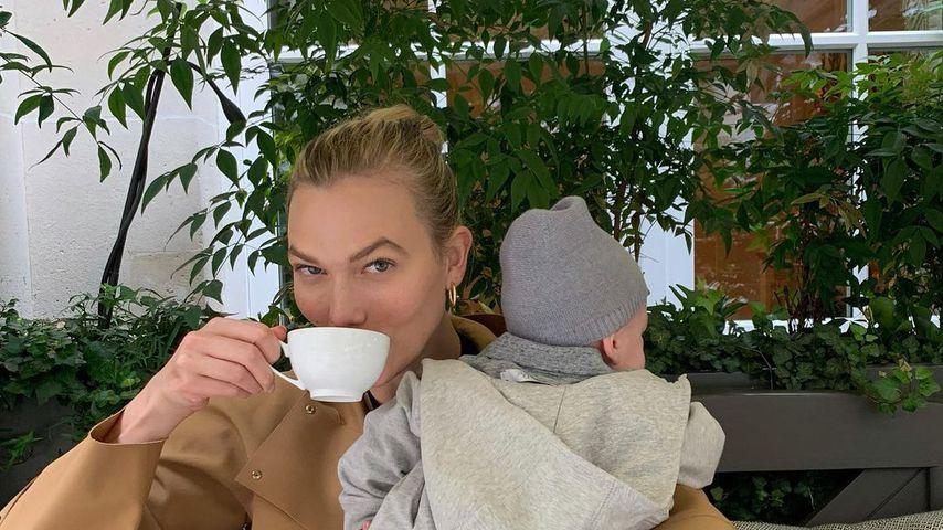 Karlie Kloss und ihr Söhnchen Levi, Juli 2021