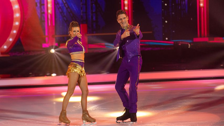 "Kat Rybkowski und Peer Kusmagk bei ""Dancing on Ice"""