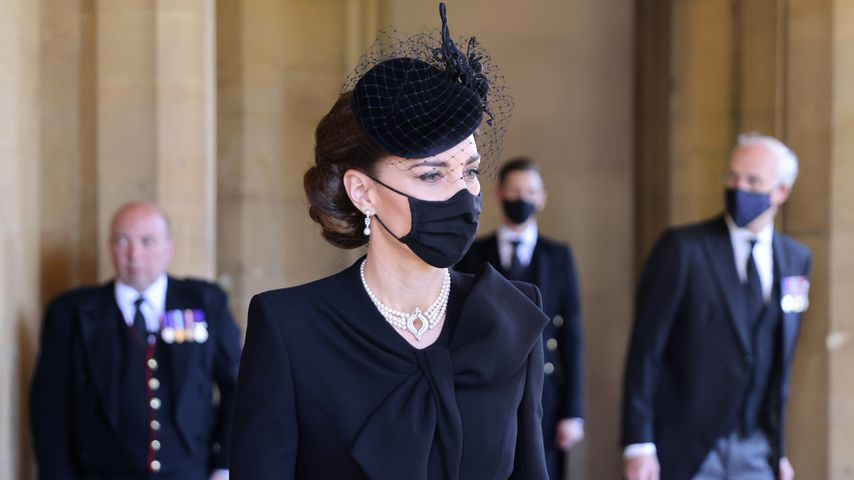 Herzogin Kate auf Prinz Philips Beerdigung