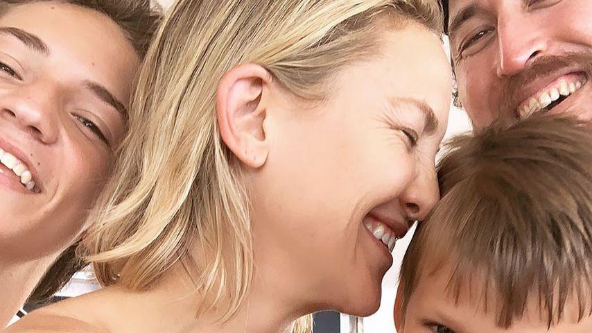 Kate Hudson mit ihren drei Kindern und ihrem Freund Danny Fujikawa
