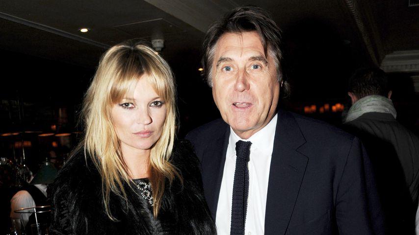 Kate Moss mit Bryan Ferry, Ex-Mann von Lucy Birley