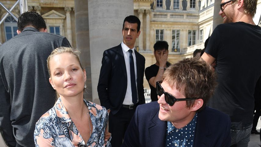 Kate Moss und Nikolai von Bismark auf der Paris Fashion Week