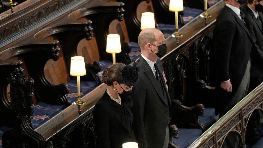 Kate und William bei der Beisetzung von Prinz Philip