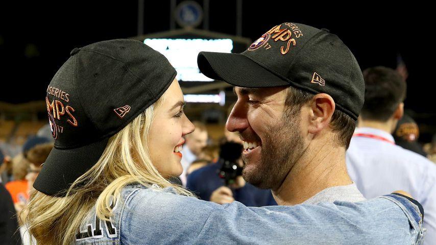 Kate Upton und Justin Verlander im Baseball-Stadion
