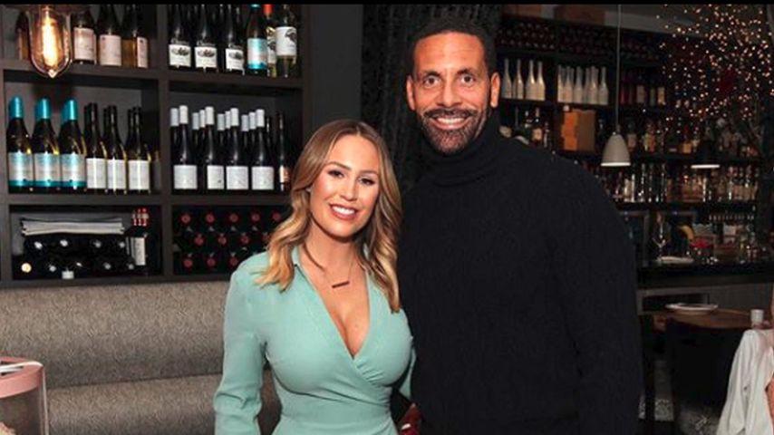 Kate Wright mit ihrem Verlobten Rio Ferdinand, Februar 2019