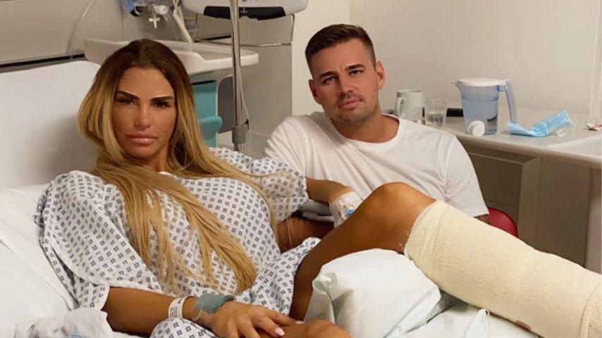 Katie Price und ihr Partner Carl im Krankenhaus, August 2020