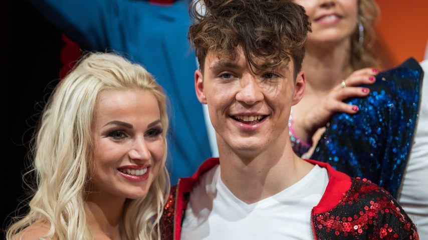 """Katja Kalugina und Roman Lochmann bei der großen """"Let's Dance""""-Kennenlernshow"""