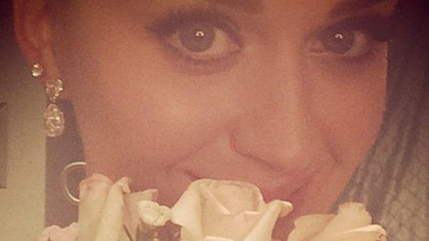 Heirats-Beweis? Katy Perry fängt den Brautstrauß