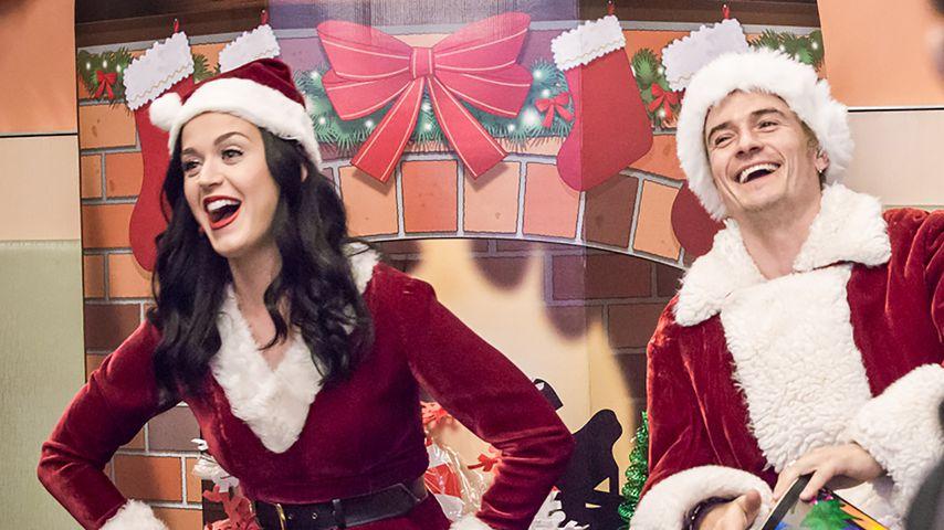Seltener Liebes-Auftritt: Katy Perry & Orlando im Xmas-Look!