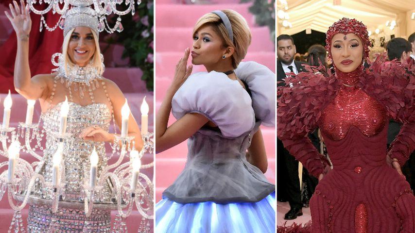 Kronleuchter, Cinderella & Bettdecke: Die bizarren Met-Looks