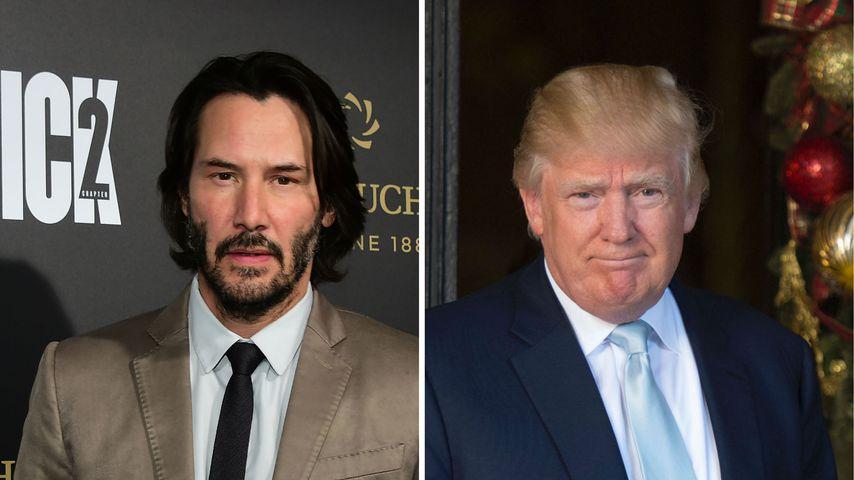"""Keanu Reeves gegen Donald Trump: """"Menschlich nicht korrekt!"""""""