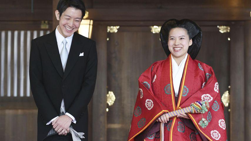 Kei Moriya und Prinzessin Ayako von Japan bei ihrer Hochzeit in Tokio