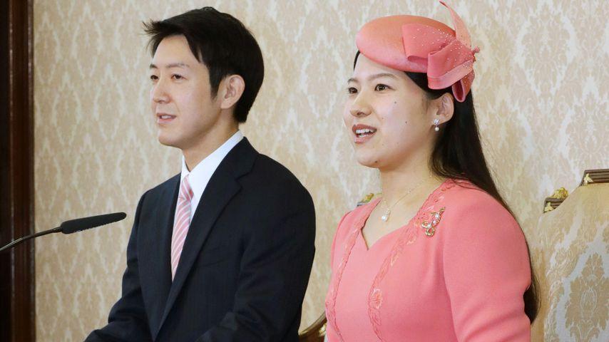 Kei Moriya und Prinzessin Ayako von Japan bei ihrer Verlobung im Juli 2018