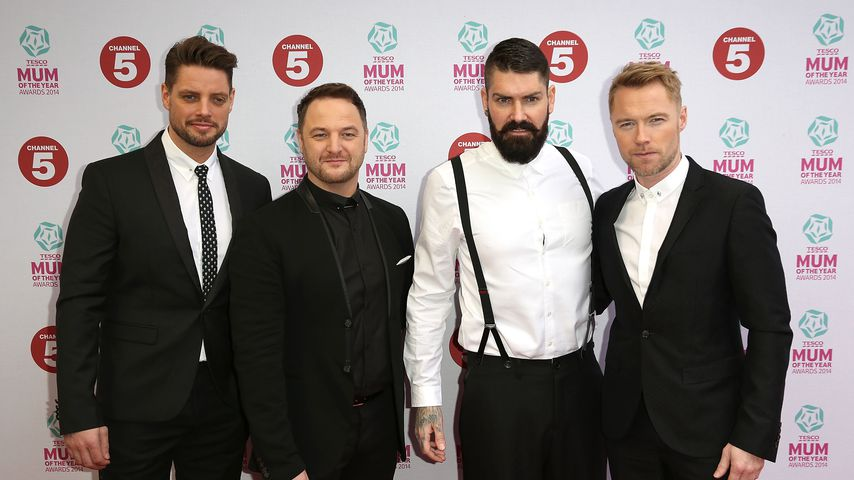 Keith Duffy, Mikey Graham, Shane Lynch und Ronan Keating in London