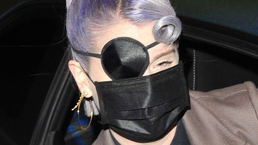 Fashion oder Verletzung? Kelly Osbourne trägt Augenklappe