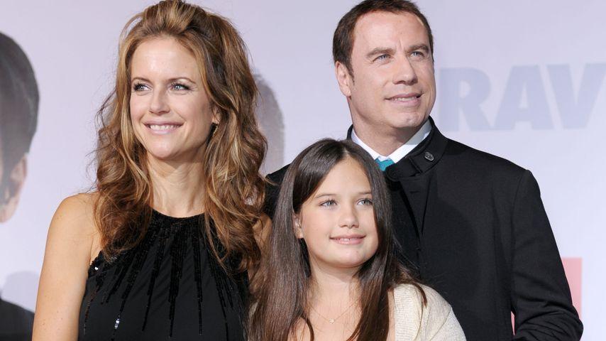 Kelly Preston und John Travolta mit ihrer Tochter Ella